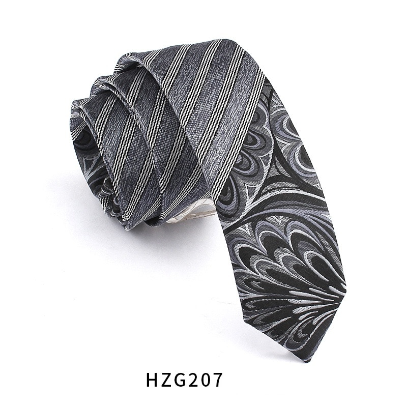 High Quality 2019 New Designers Brands Fashion Business Casual 5.5cm Slim Ties for Men Skinny Necktie Student Cool with Gift Box
