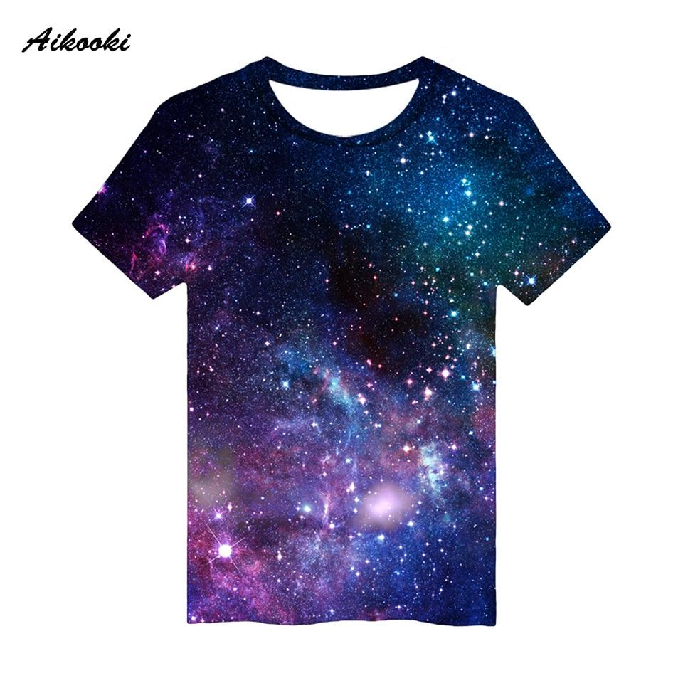 2021 Nieuwe 3D Print Sky Jongen/Meisje T-shirt Fashion Streetwear Tops Casual Cool Ruimte Galaxy 3D T-shirt Mannen/Vrouwen Katoenen T-shirt