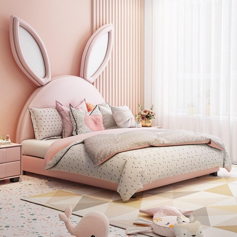 أرنب السرير ، الأذن ، سرير الأطفال ، الفتاة الوردي حلم القلعة ، الكرتون فتاة سرير الاميرة ، INS صافي ، سرير أحمر