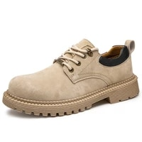 fashion authentic mens work shoes sport outdoor sneakers comfortable durable breathable first layer leather boots
