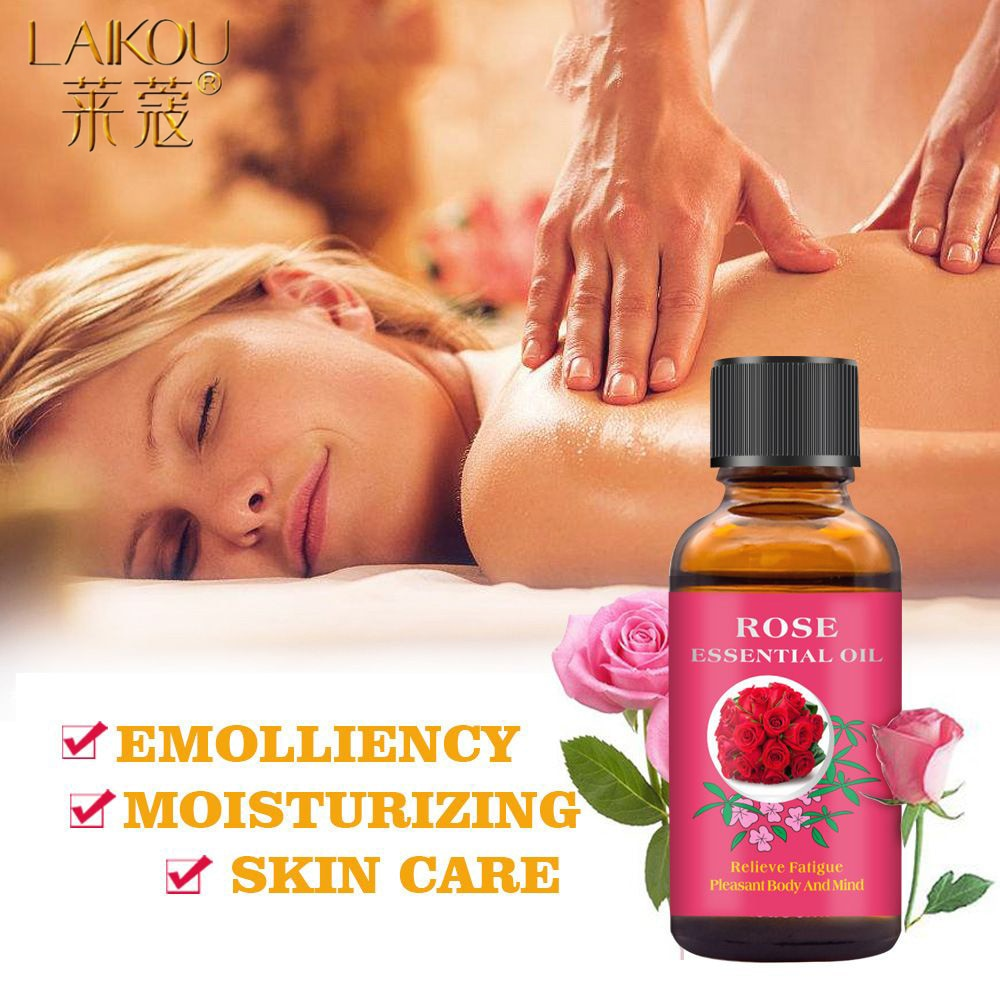 LAIKOU 30ML Rose Massage Oil Relaxing Body Massage Scraping Essential Oil Relieve Fatigue Pure Natural Body Oils Skin Care недорого