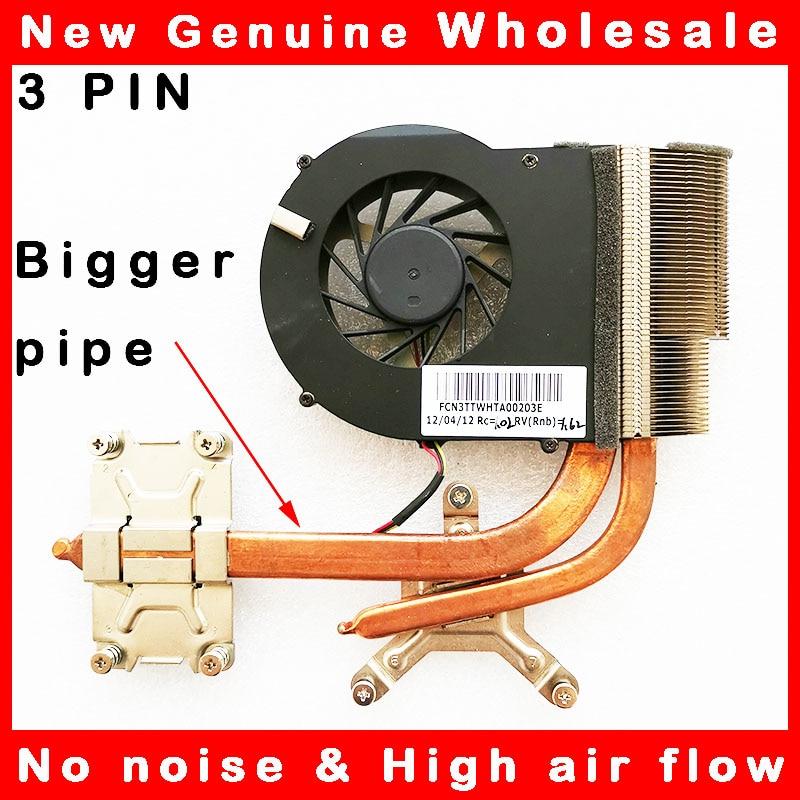 Refrigerador do dissipador de calor do ventilador de refrigeração da cpu radaitor para hp pavilion DV6-3000 DV7-4000 dfb552005m30t f9v8 637610-001 698883-001