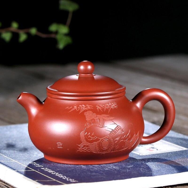 TaoYuan 】 yixing الشهير xiao-lu li real, يدوي كامل موصى به dahongpao pot pan إبريق الشاي