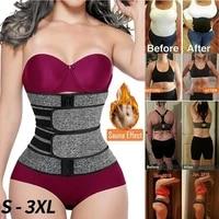 s 3xl neoprene sauna waist trainer corset sweat belt for women weight loss compression trimmer fitness sweat fat burning belt