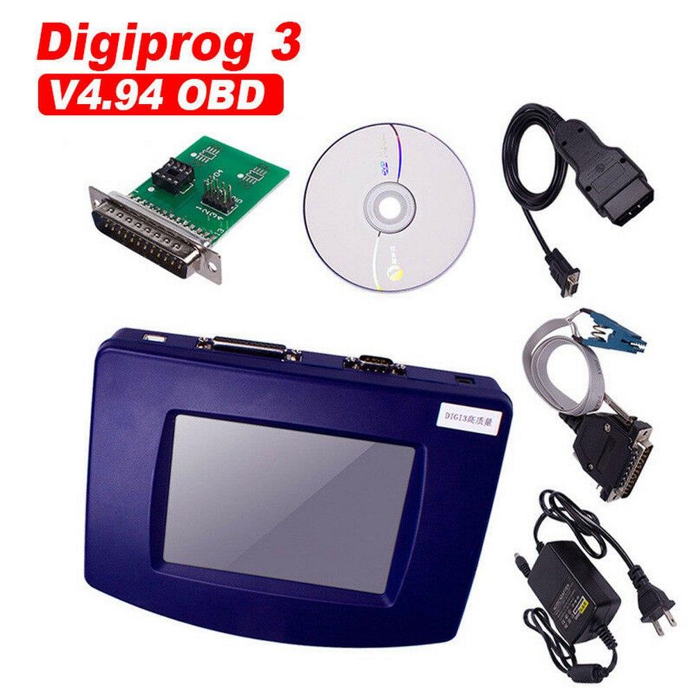 Multi-idioma ST01 ST04 adaptador y OBD2 Cable Digiprog 3 V4.94 odómetro programador DigiprogIII kilometraje herramienta correcta
