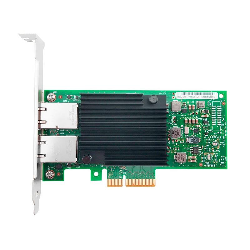 X550-T2 بكيي 3.1 X8 النحاس RJ45 * 2 10G محول الشبكة مع إنتل X550