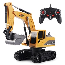 RC Excavator Toy 2.4Ghz 6 Channel 1:24 RC Engineering Car Alloy And Plastic Excavator 6CH And 5CH Fo