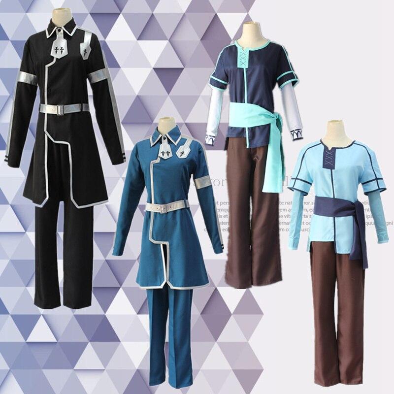 Новый японский аниме меч искусство онлайн алинизация киригая Kazuto Косплей костюмы наряды черная униформа для хэллоуивечерние НКИ