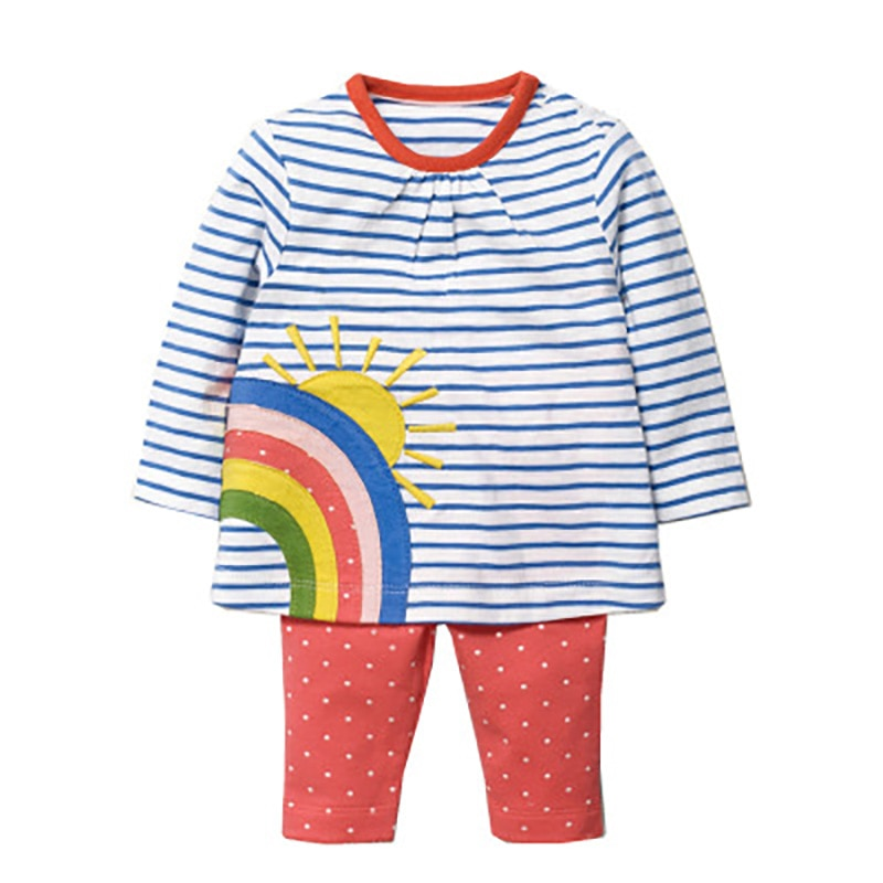 Ropa de niña de manga larga de dibujos animados, traje de otoño 2020 para niños, pijamas cómodos para llevar en casa, ropa para niños, ropa bonita K para niños pequeños
