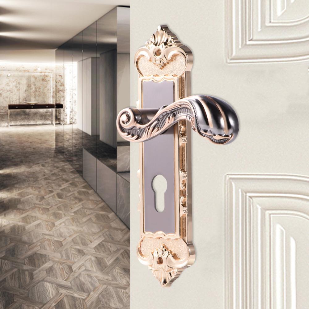 אירופאי סגנון רטרו אלומיניום סגסוגת בציר מנעול דלת פנים נגד גניבה חדר חכם דלת מנעול