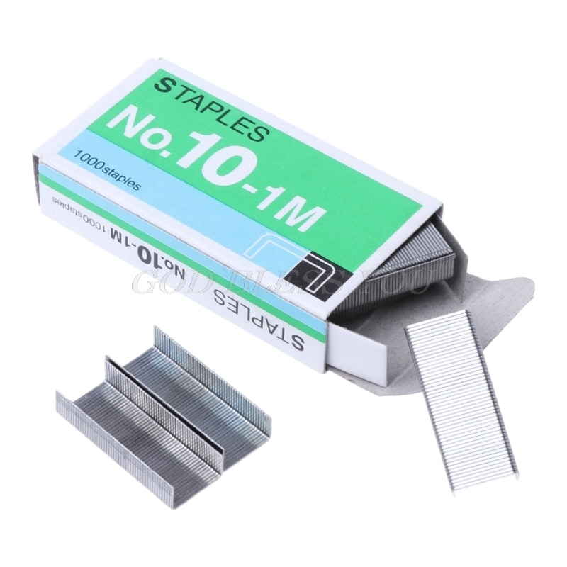 1000Pcs/Box Metal Staples No.10 Binding Stapler Office Binding Supplies School Stationary Drop Shipping