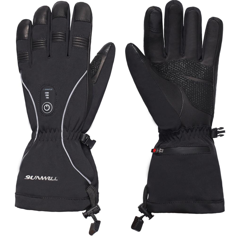 Guantes Térmicos con batería eléctrica Unisex, controlador de 3 niveles con elementos de calentamiento de fibra de carbono para esquiar motociclismo