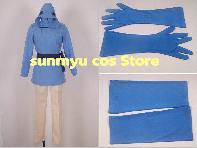 Personalizar envío GRATUITO! nausicaä del valle del viento Naushika Kaze no Tani no nausicaä Cosplay traje de tamaño personalizado de Halloween