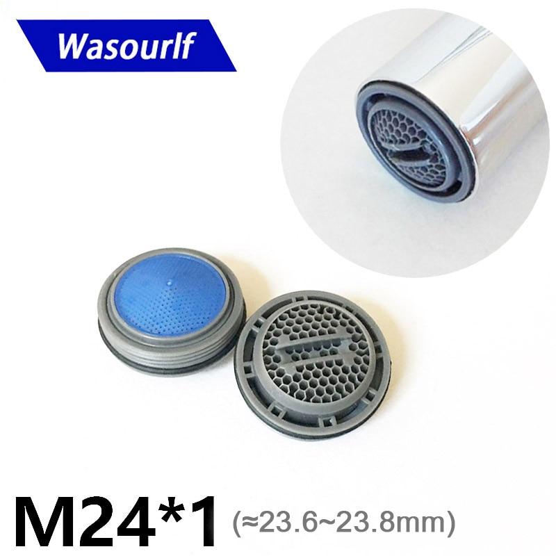 Экономичный водосберегающий аэратор для крана WASOURLF M24 с наружной резьбой, аксессуары для кухонного крана, съемные фитинги для ванной комнат...