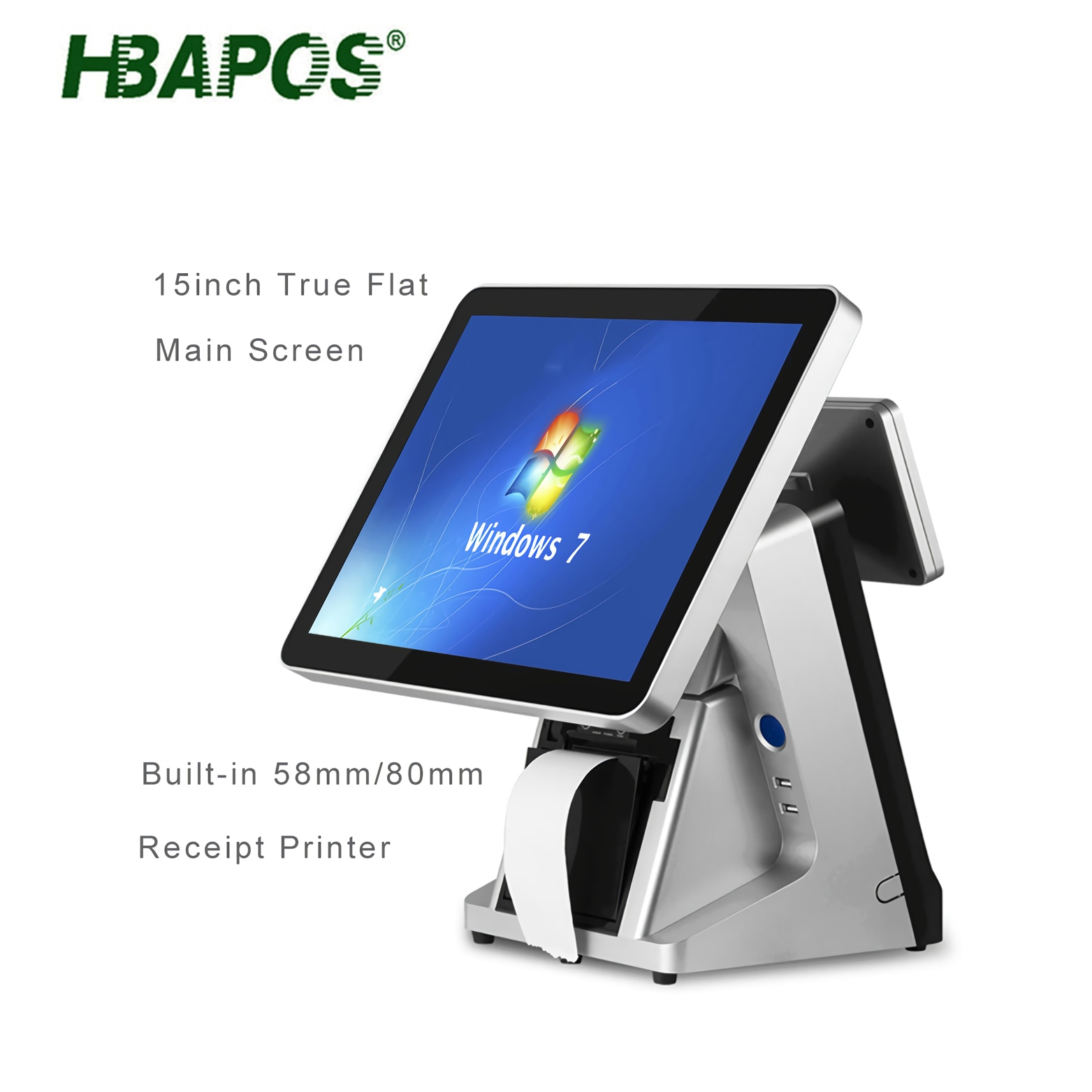cheap pos system Q17 all in one terminal machine 15 inch touch screen with 58mm/80mm printer pos terminal cash machine for bar enlarge