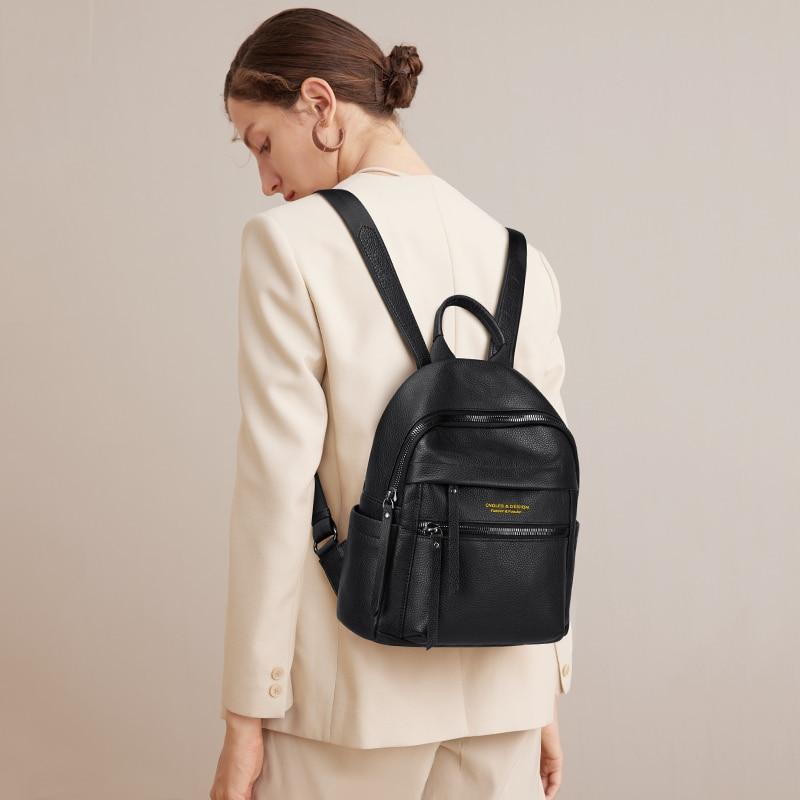 سعة كبيرة العصرية المرأة على ظهره حقيبة سوداء صغيرة السيدات الكتف حقيبة كروسبودي والجلود الناعمة الإناث حقيبة صغيرة