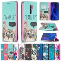 xiaomi redmi 9a 9c 8 a painted leather phone case magnetic flip cover