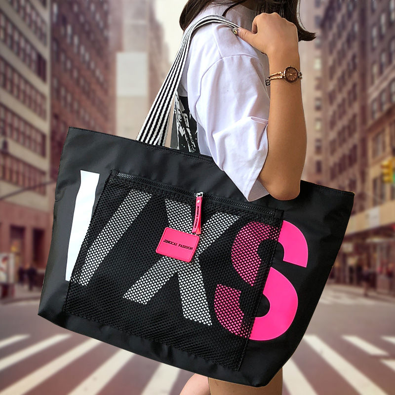 aliwood 2021 New Arrivals Letter Women Shoulder Bags Trendy Waterproof Tote Beach Bag Large Capacity Female Travel Shopping bags