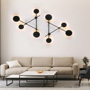 Nordic Designer Irregular Triangle Metal Wall Lamp Living Room Bedroom Home Decor Hotel Restaurant Lights LED Chip Light Source