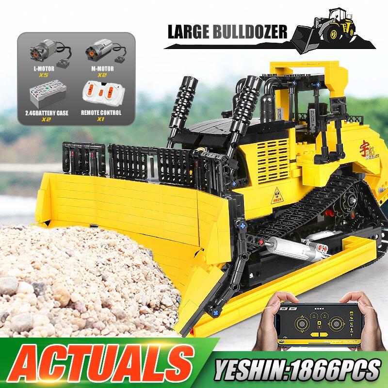 YC22011 هندسة كبيرة جرافة رافعة شاحنة قلابة 20008 اللبنات مدينة البناء سيارة سيارة الطوب لعبة هدايا الاطفال