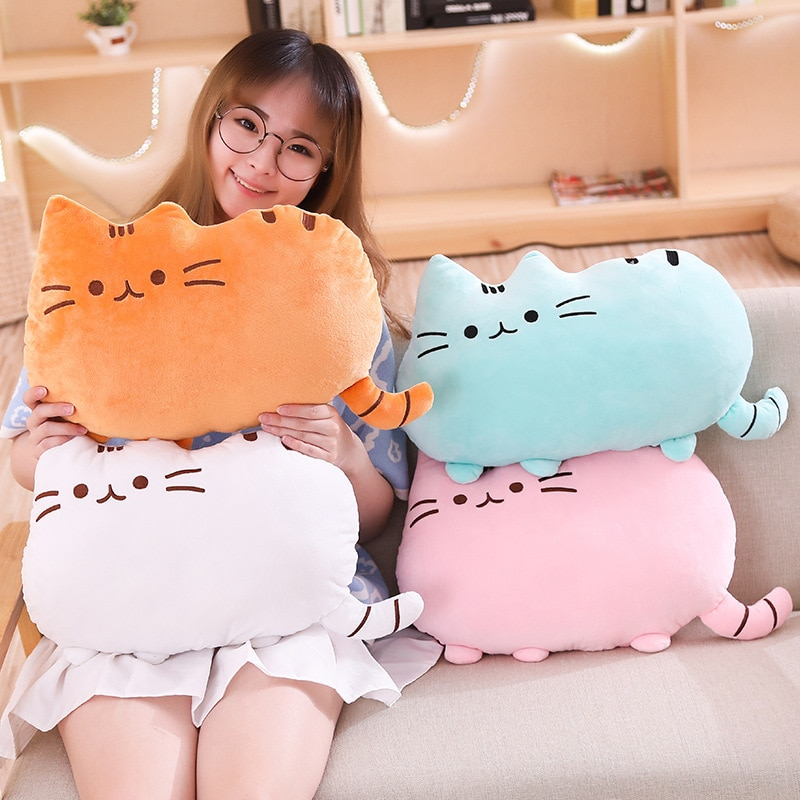 25cm free shipping kawaii cat plush pillow with zipper pp cotton biscuit shape plush animal doll toy children s christmas gift 25cm Free Shipping Kawaii Cat Plush Pillow with Zipper PP Cotton Biscuit Shape Plush Animal Doll Toy Children's Christmas Gift