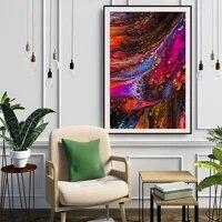 Peinture a lhuile abstraite a lencre couleur  toile dart  salon  couloir  bureau  decoration murale de la maison