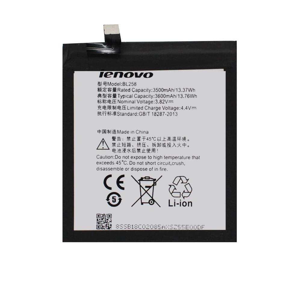 20pcs/lot Newest Original Battery BL258 For Lenovo Vibe X3 X3c50 X3C70 Lemon x3a40 Rechargeable Phone Batteries akku 3500mAh enlarge
