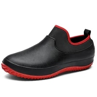 2021 new men shoes kitchen working shoes breathable non slip waterproof chef shoes casual flat work shoes water shoes rain boots