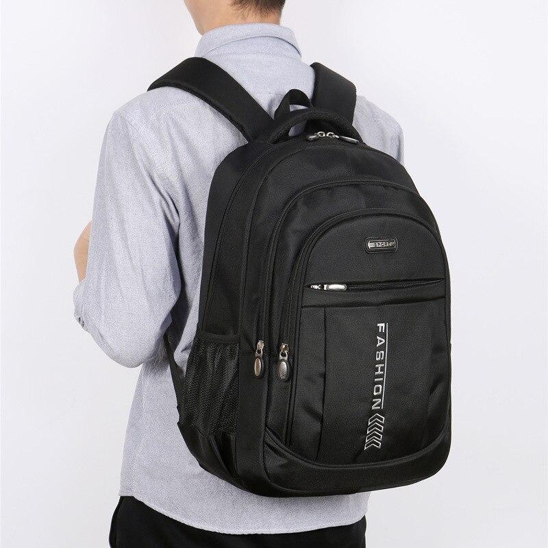 Новинка 2021, вместительный мужской рюкзак, женский черный нейлоновый рюкзак для мальчиков