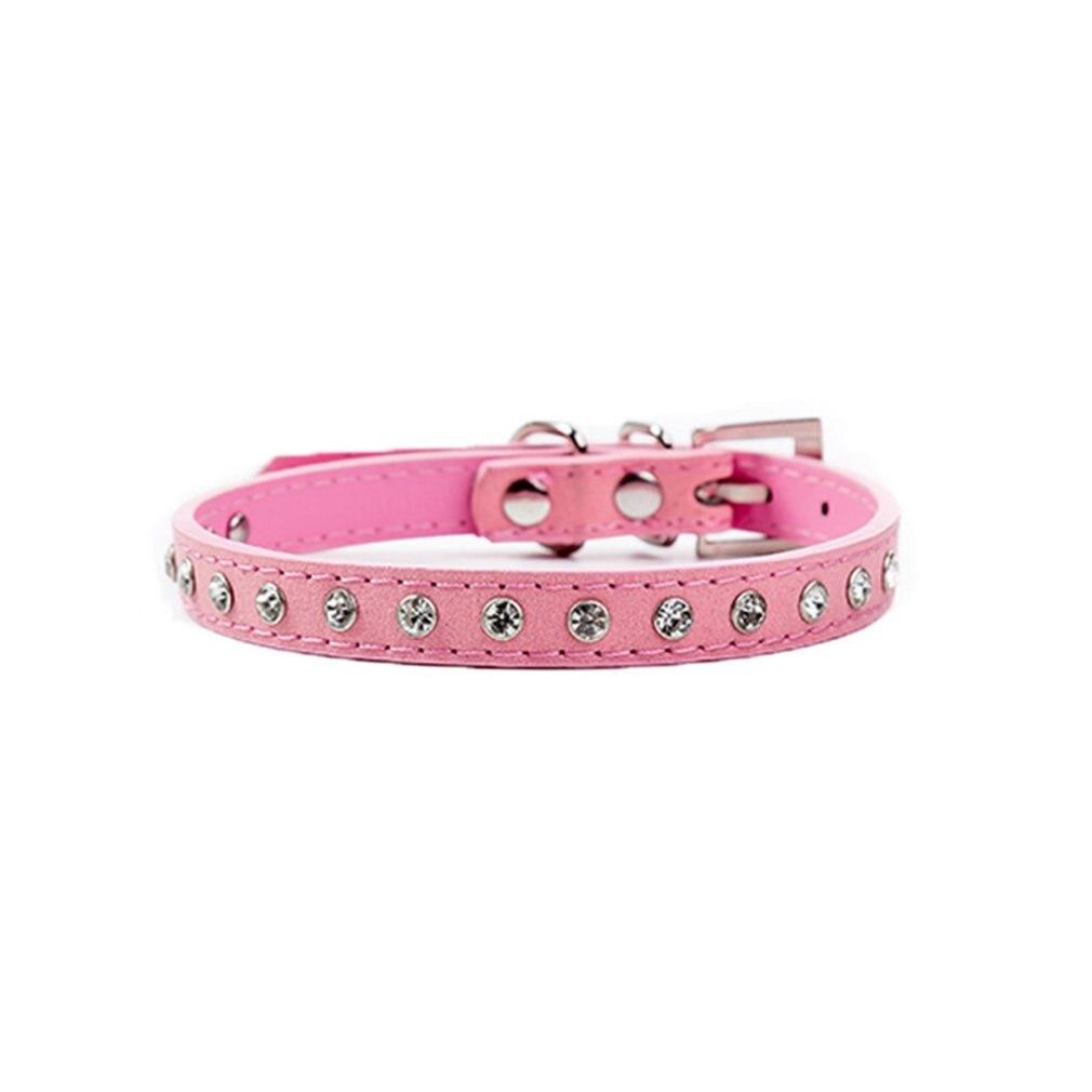 Collar para perros pequeños productos de suministros para mascotas gatos collares ajustables Collar de cristal perro de diamantes accesorios Collar mascotas caliente