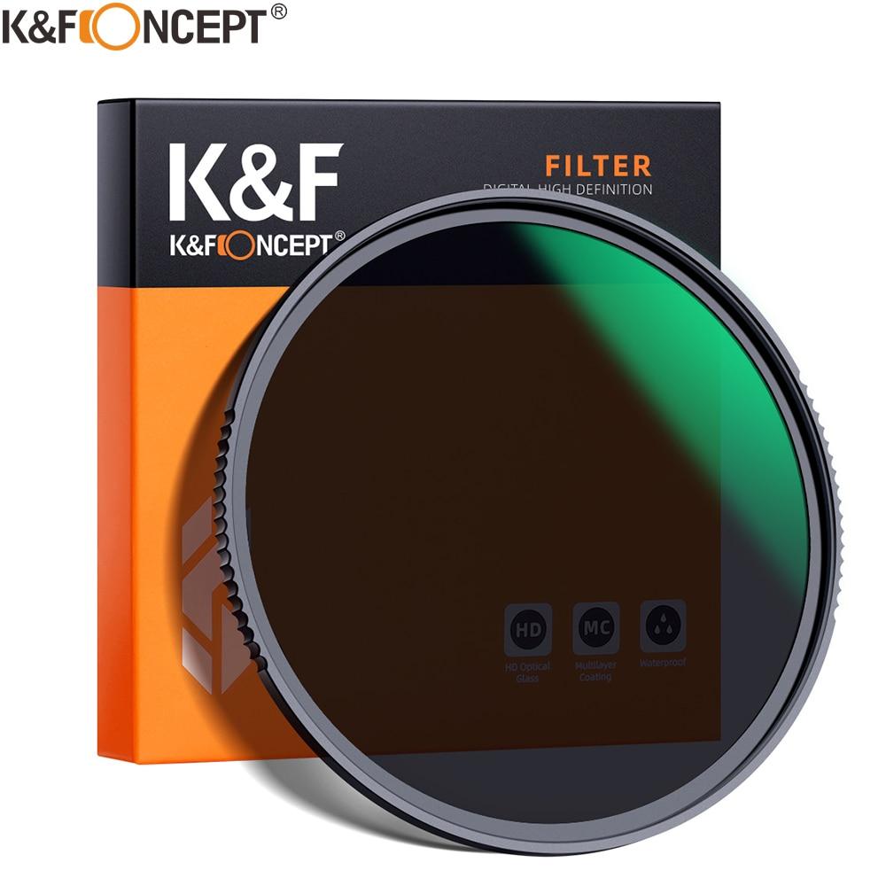 Conceito Nd8 Filtro Lente Multi-resistente Nano x Revestimento Densidade 49mm 52mm 58mm 62mm 67mm 72mm 77mm 82mm k & f hd