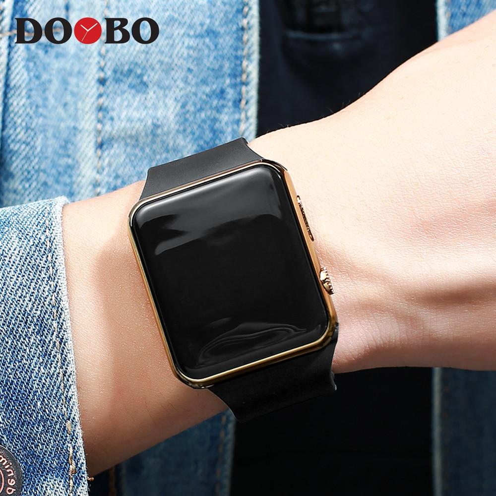 New Stylish Sport LED Watches Women Men Unisex Digital Watch Men Clock Army Military Silicone Wrist Watch Relogio Masculino