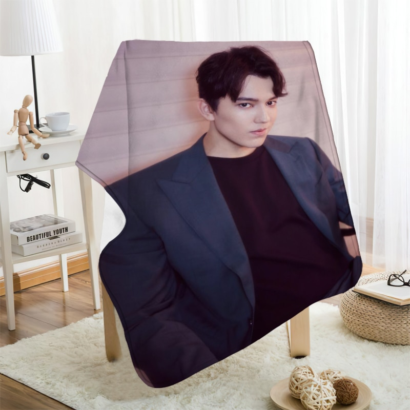 Musife مخصص Dimash الفانيلا بطانية تصميم بطانية الفانيلا الخاصة بك أريكة DIY بها بنفسك دروبشيبينغ