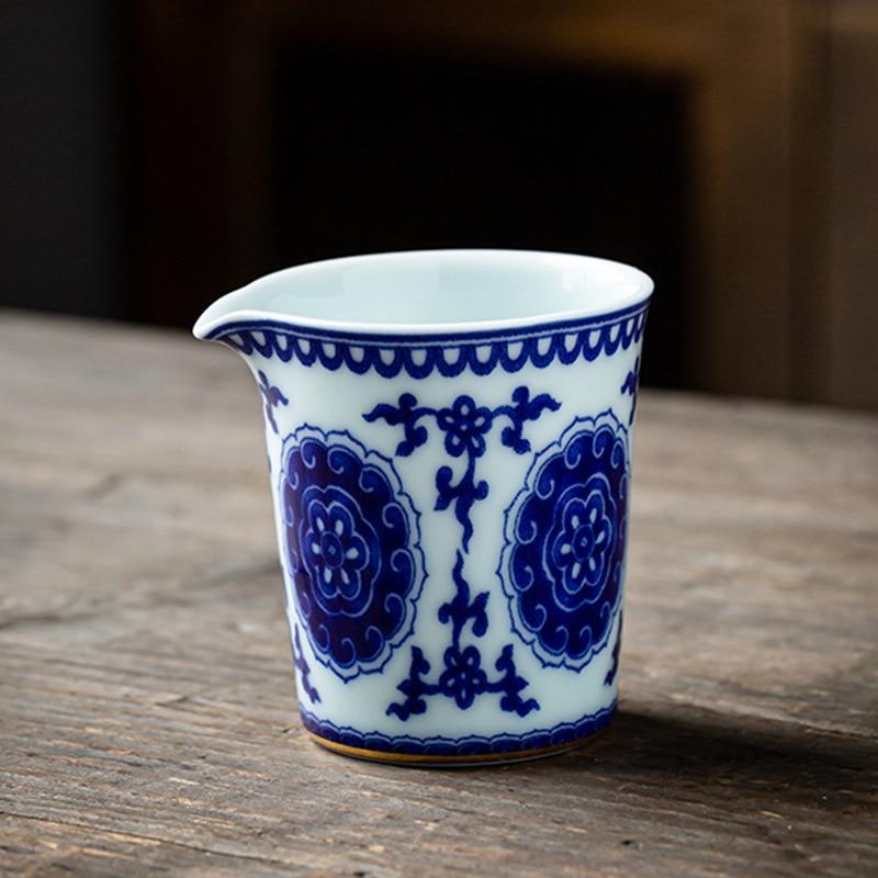 الأزرق نمط الشاي إبريق إبريق الشاي معرض كوب المنزلية خمر السيراميك كبير براد شاي الكونغ فو طقم شاي الشاي حفل اكسسوارات