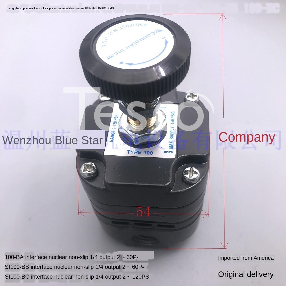 Válvula reductora de presión precisa 100-BC 100-BA BB CC 960-015 de Controlair