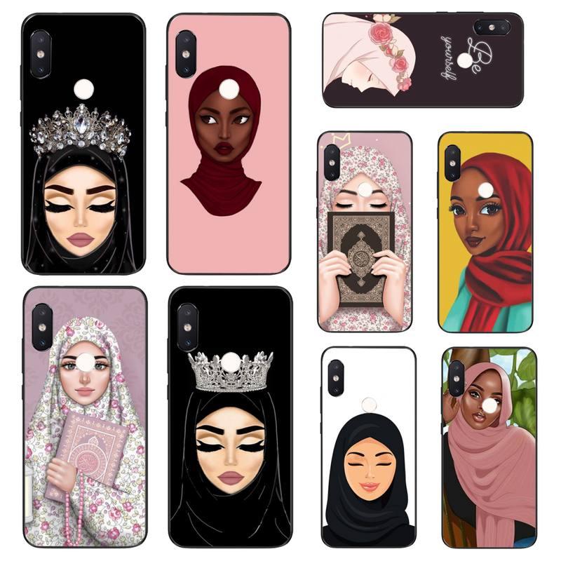 HTXian мусульманская девочка хиджаб лицо Корона чехол для телефона для Xiaomi Mi8 9 10 9T 5 6 A1 A2Lite 9SE 8SE Mi8lite Mix2 Max3 F1