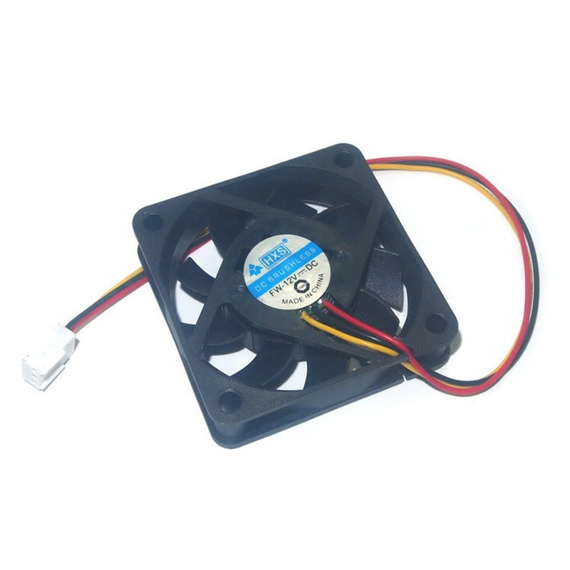 10Pcs Black 6cm or 7cm 3pin12V 60mm 70mm 15mm 6015 7015 Brushless DC Fan PC Cooling Cooler Fan