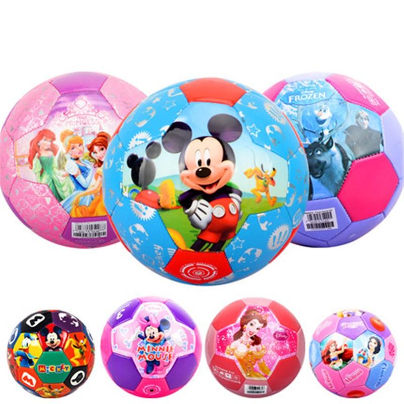 Disney Mickey Mouse Thomas Children Football Soft Leather PU Boy Ball Toys Wear-resisting Kindergarten Toy Kids Gift X5264