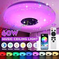 RGB 60 Вт приглушаемая музыкальная потолочная лампа с дистанционным управлением и управлением через приложение, потолочный светильник AC180-265V ...