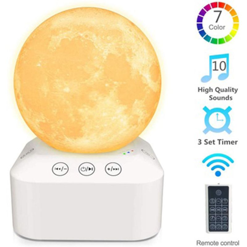 White Noise Sleep Sound Machine Dimmable 7 Color Changing Night Light Sleep Timer for Relaxing Sleeping