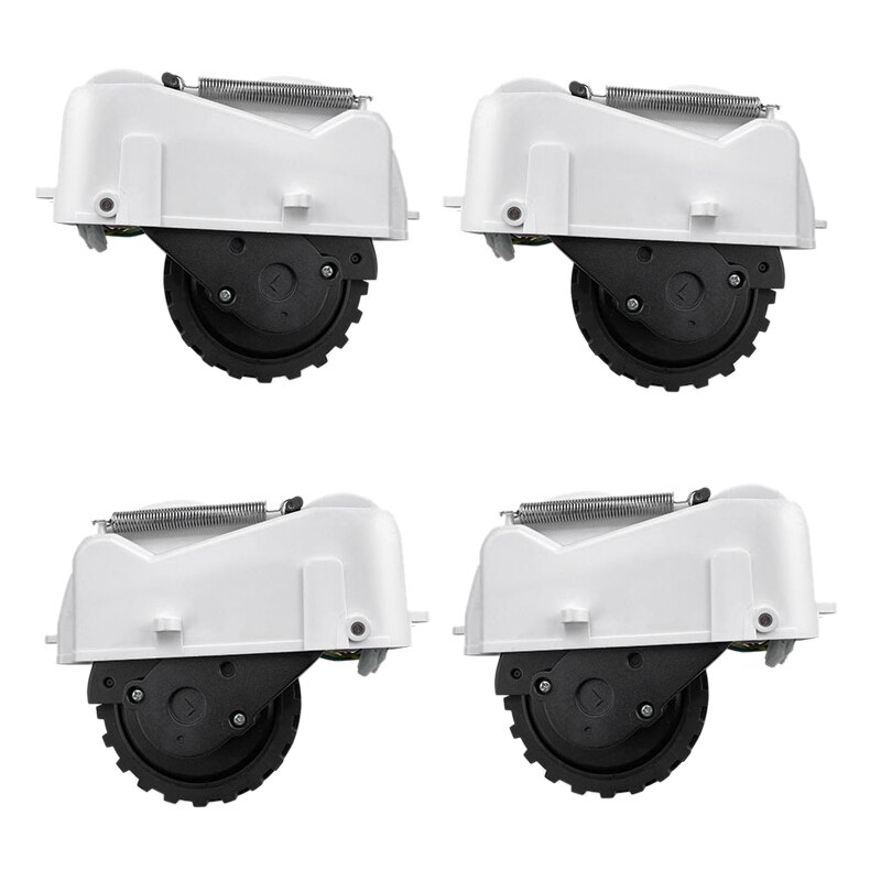 4pcs Right Wheel Left Wheel for 360 S6 Robotic Vacuum Cleaner Spare Parts Accessories Replacement,White