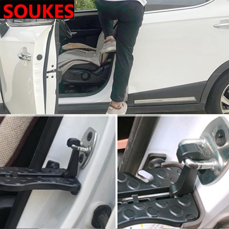 Placa de pie de la puerta del techo del coche clavijas plegables Pedal Fender para Chevrolet Cruze Aveo Opel Insignia ssangyong kyron y rexton Honda Accord