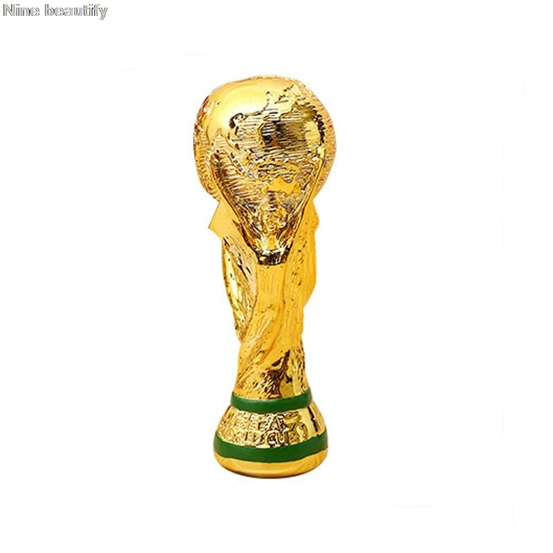 Mascot Toy Cup Trophy Champion Souvenir Resin Golden Color Modern Sports World Football Oloey