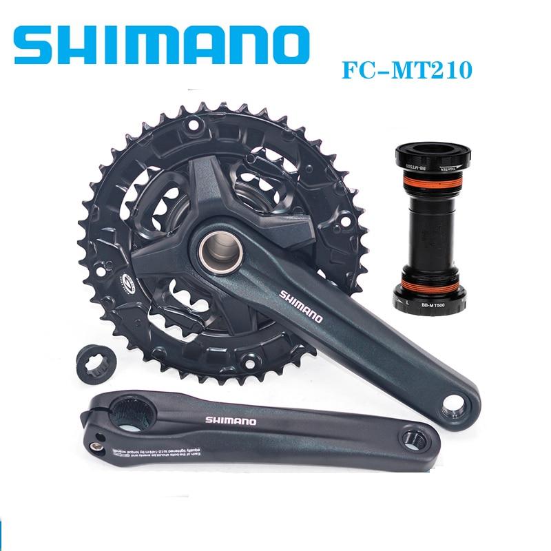 Shimano-platos y bielas Alivio FC MT210 MT500, soporte inferior BB 44-32-22T, rueda...