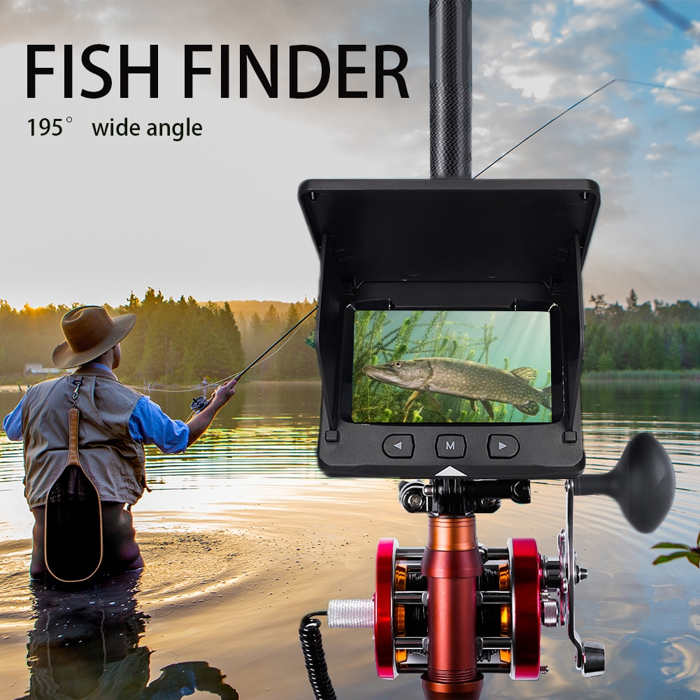 4.3 Inch Monitor Underwater Fishing Camera 30M 1000TVL 195° Wide Angle Infrared Night Vision Monitoring Fish Finder Tackle