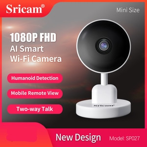 Sricam SP027 2MP 1080P AI Humanoid Wireless PTZ IP Camera Home Security  Baby Monitor Motion Detection Wide Angle