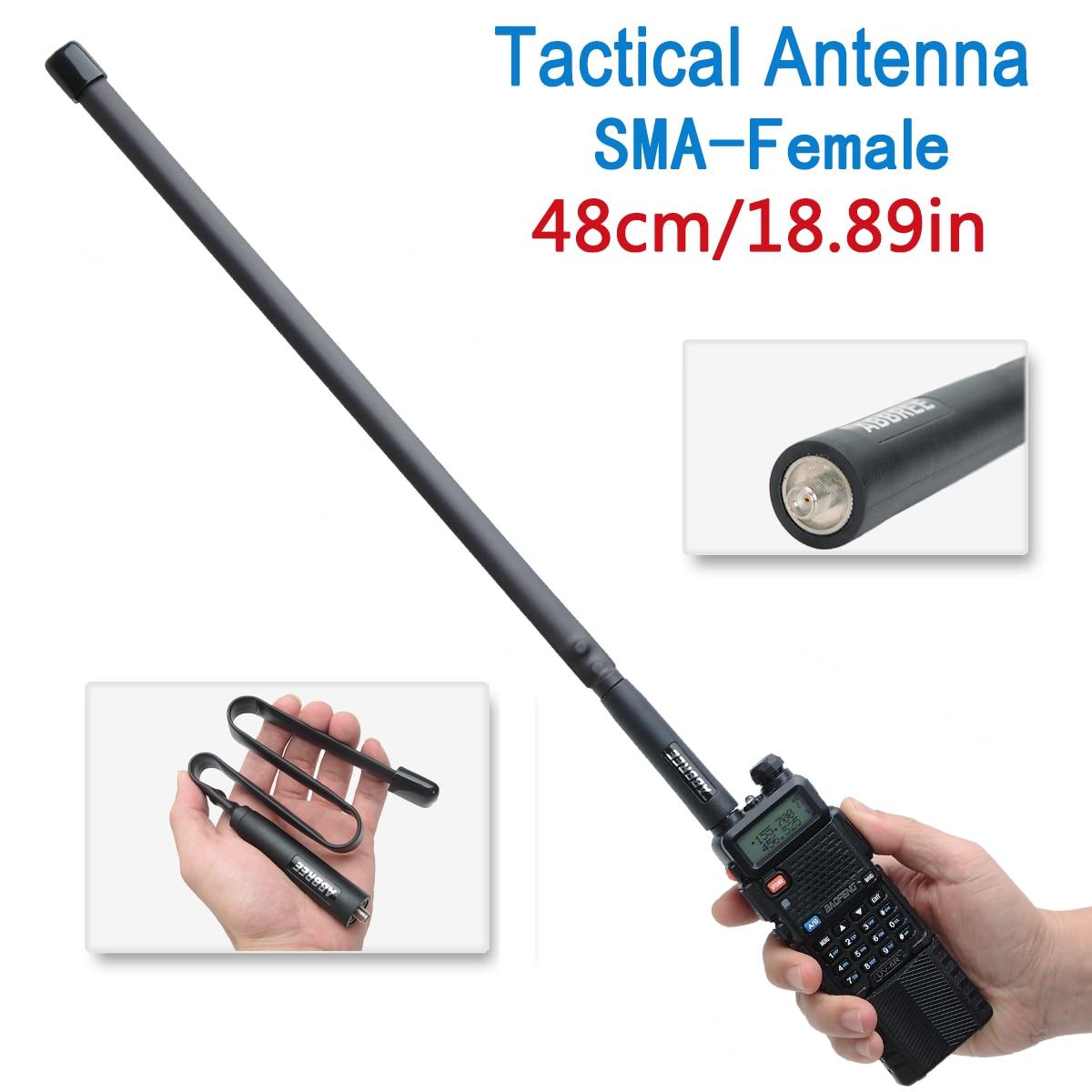 ABBREE AR-152 táctico antena plegable SMA-hembra VHF UHF 144/430Mhz para Walkie Talkie Baofeng UV-82 UV-5R UV 5R BF-888S AR-F8