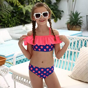 Girl Swimsuit Two Pieces Children's Kids Swimwear Summer Set Baby Shower Decorations