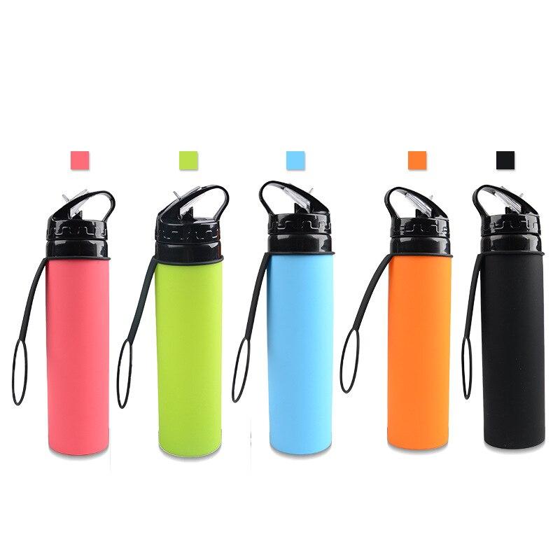 Taza Plegable de silicona de 600ml, Taza multifunción de grado alimenticio, Taza para beber deportiva al aire libre, Taza Plegable portátil, DA60ZDB