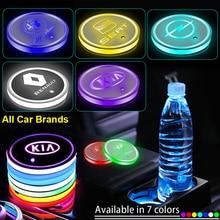 1 pièces Led voiture tasse Badge lumières lumineux caboteur boissons supports pour Toyota TRD Avensis Auris Hilux Corolla Camry RAV4 Auto marchandises